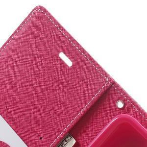 Goos PU kožené pouzdro na Xiaomi Redmi Note 2 - růžové - 6
