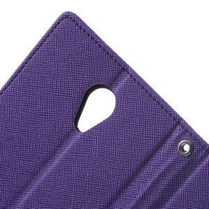 Goos PU kožené pouzdro na Xiaomi Redmi Note 2 - fialové - 6
