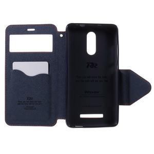 Diary pouzdro s okýnkem na mobil Xiaomi Redmi Note 3  - světlemodré - 6