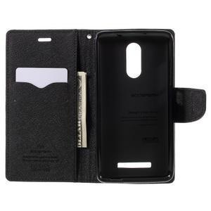 Wallet PU kožené pouzdra na Xiaomi Redmi Note 3 - černé - 6