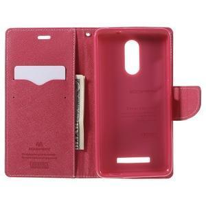 Wallet PU kožené pouzdra na Xiaomi Redmi Note 3 - růžové - 6