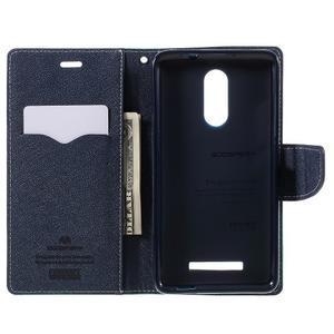 Wallet PU kožené pouzdra na Xiaomi Redmi Note 3 - azurové - 6