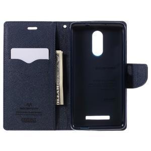 Wallet PU kožené pouzdra na Xiaomi Redmi Note 3 - fialové - 6