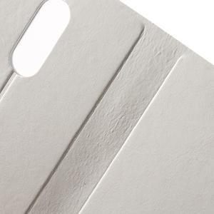 Horse PU kožené pouzdro na Xiaomi Redmi Note 3 - bílé - 6