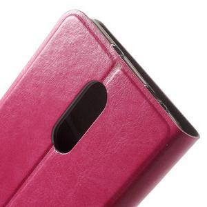 Horse PU kožené pouzdro na Xiaomi Redmi Note 3 - rose - 6