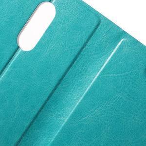 Horse PU kožené pouzdro na Xiaomi Redmi Note 3 - modré - 6