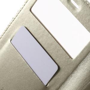 PU kožené pouzdro s okýnkem na Xiaomi Redmi Note 3 - zlaté - 6