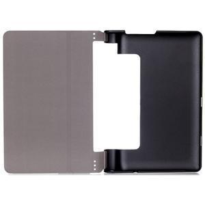 Polohovatelnotelné PU kožené pouzdro na Lenovo Yoga Tab 3 8.0 - tmavěmodré - 6