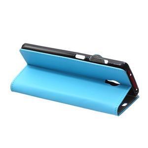 Peněženkové pouzdro na Lenovo Vibe P1 - modré - 6