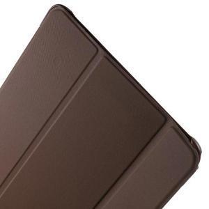 Trifold polohovatelné pouzdro na Samsung Galaxy Tab A 9.7 - hnědé - 6