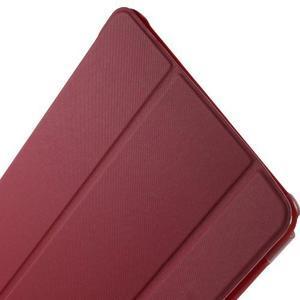 Trifold polohovatelné pouzdro na Samsung Galaxy Tab A 9.7 - červené - 6