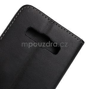 PU kožené pouzdro na Samsung Galaxy A3 - černé - 6