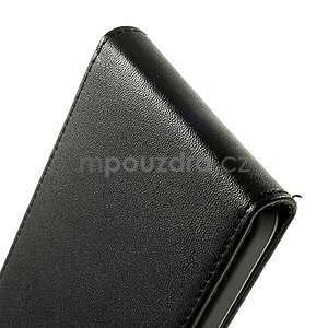 PU kožené flipové pouzdro na Samsung Galaxy A3 - černé - 6