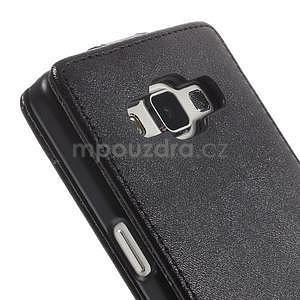 PU kožené flipové pouzdro na Samsung Galaxy A5 - černé - 6