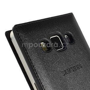 PU kožené pouzdro s okýnkem na Samsung Galaxy A5 - černé - 6