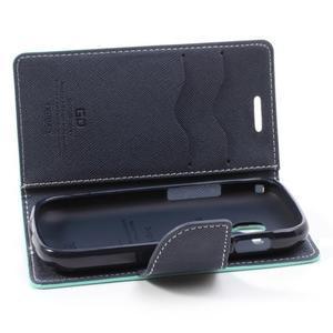 Diary pouzdro na mobil Samsung Galaxy S Duos/Trend Plus - azurové - 6