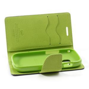 Diary pouzdro na mobil Samsung Galaxy S Duos/Trend Plus - tmavěmodré - 6