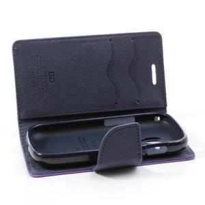 Diary pouzdro na mobil Samsung Galaxy S Duos/Trend Plus - fialové - 6