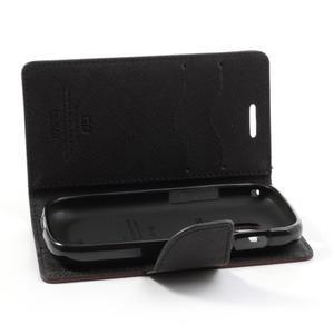 Diary pouzdro na mobil Samsung Galaxy S Duos/Trend Plus - hnědé/černé - 6