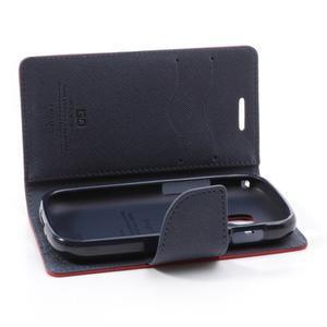 Diary pouzdro na mobil Samsung Galaxy S Duos/Trend Plus - červené - 6