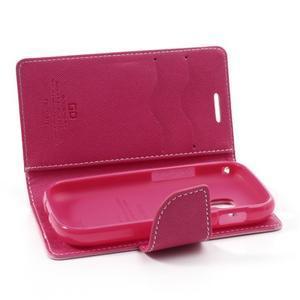 Diary pouzdro na mobil Samsung Galaxy S Duos/Trend Plus - růžové - 6