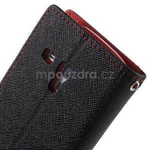 Diary peněženkové pouzdro na mobil Samsung Galaxy S3 mini - černé/červené - 6