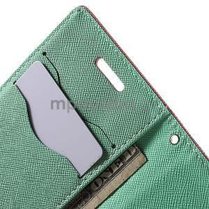 Diary peněženkové pouzdro na mobil Samsung Galaxy S3 mini - růžové/azurové - 6