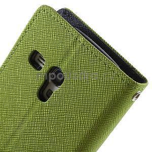 Diary peněženkové pouzdro na mobil Samsung Galaxy S3 mini - zelené/tmavěmodré - 6