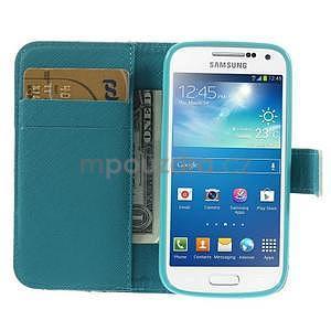 Peněženkové pouzdro pro Samsung Galaxy S4 mini - květoucí větvička - 6