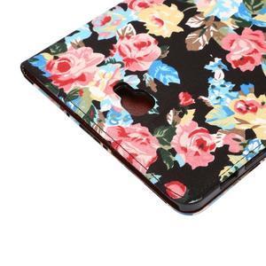 Květinové pouzdro na tablet Samsung Galaxy Tab A 10.1 (2016) - černé - 6