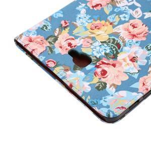 Květinové pouzdro na tablet Samsung Galaxy Tab A 10.1 (2016) - modré - 6