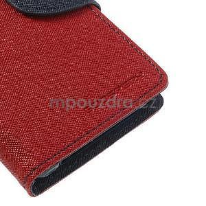 Fancy peněženkové pouzdro na Sony Xperia Z1 Compact - červené - 6