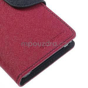 Fancy peněženkové pouzdro na Sony Xperia Z1 Compact - rose - 6