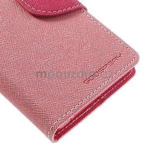 Fancy peněženkové pouzdro na Sony Xperia Z1 Compact - růžové - 6