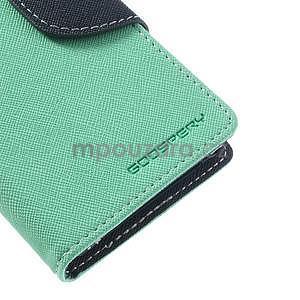 Fancy peněženkové pouzdro na Sony Xperia Z1 Compact - azurové - 6