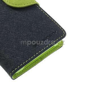 Fancy peněženkové pouzdro na Sony Xperia Z1 Compact - tmavěmodré - 6