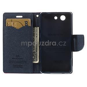 Diary peněženkové pouzdro na mobil Sony Xperia Z3 Compact - rose - 6