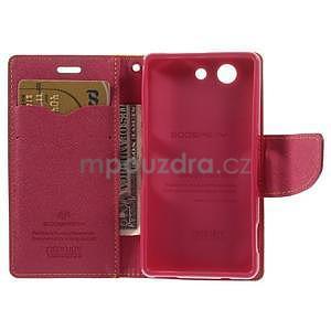 Diary peněženkové pouzdro na mobil Sony Xperia Z3 Compact - žluté - 6