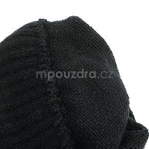Skeleton rukavice na dotykové telefony - černé/fialové - 6