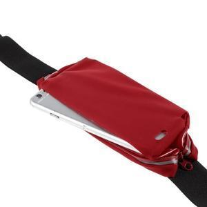 Sportovní kapsička přes pas na mobily do rozměrů 149 x 75 mm - červené - 6