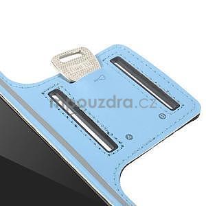 Gymfit sportovní pouzdro pro telefon do 125 x 60 mm - světle modré - 6