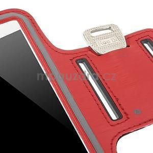 Běžecké pouzdro na ruku pro mobil do velikosti 152 x 80 mm - červené - 6