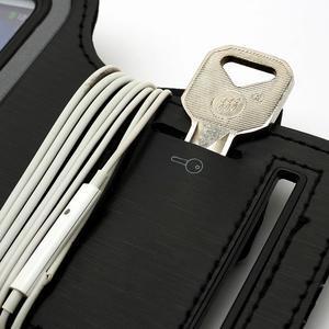 Černé pouzdro na ruku do velikosti mobilu 125 x 61 mm - 6