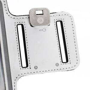 Sportovní pouzdro na ruku až do velikosti mobilu 140 x 70 mm - bílé - 6