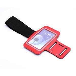 Sportovní pouzdro na ruku až do velikosti mobilu 140 x 70 mm - červené - 6