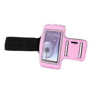 Sportovní pouzdro na ruku až do velikosti mobilu 140 x 70 mm - růžové - 6