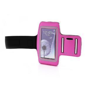 Sportovní pouzdro na ruku až do velikosti mobilu 140 x 70 mm - rose - 6