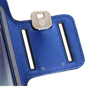 Sportovní pouzdro na ruku až do velikosti mobilu 140 x 70 mm - modré - 6
