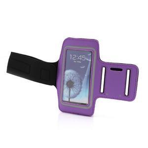 Sportovní pouzdro na ruku až do velikosti mobilu 140 x 70 mm - fialové - 6