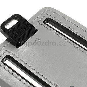 Soft pouzdro na mobil vhodné pro telefony do 160 x 85 mm - šedé - 6